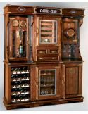 Unique cigar and wine cabinet with a humidor