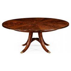Mahogany Circular Dining Table Set-45