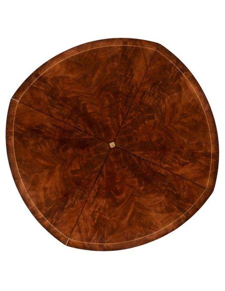Dining Tables Mahogany Circular Dining Table Set-45