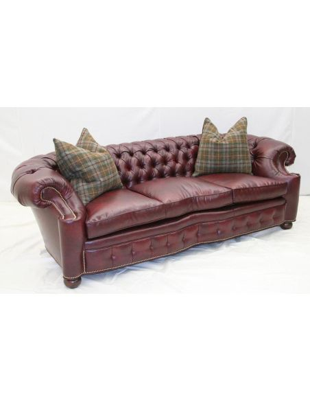 SOFA, COUCH & LOVESEAT City Club Leather Tufted sofa 44. High End Furnishings