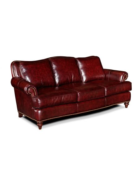 SOFA, COUCH & LOVESEAT Classic Comfort All Leather Sofa