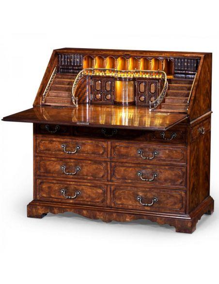 Executive Desks Luxury Classic antique reproduction furniture. Secrtaire cabinet