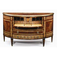 Classic antique reproduction furniture. Secrtaire cabinet office furniture