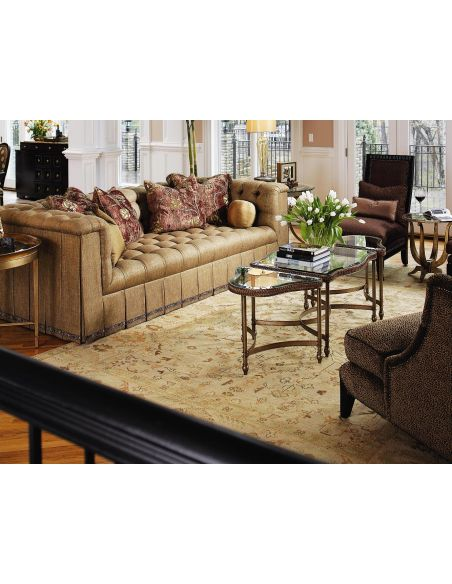 SOFA, COUCH & LOVESEAT Classy sofa, great colors, high quality, lost look from the past