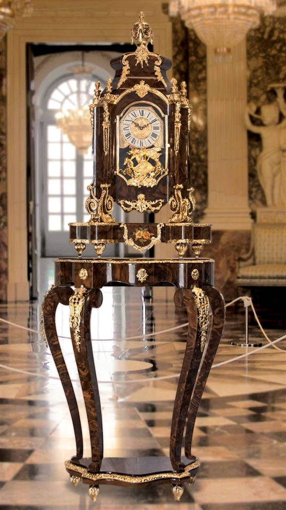 Executive Desks Clock And Stand In The Louse Xiv Style