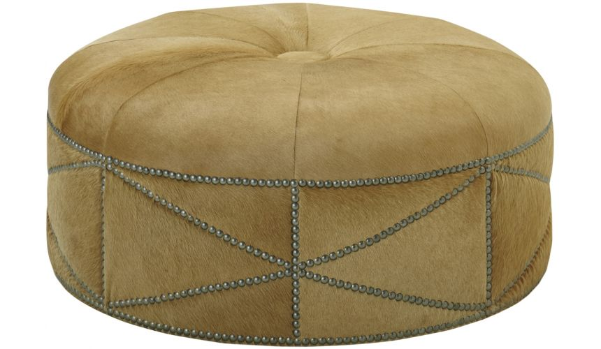 Luxury Leather & Upholstered Furniture Designer Ottoman
