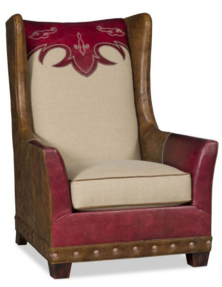 Luxury Leather & Upholstered Furniture Club armchair with custom stitching 54659