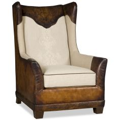 Luxury Leather & Upholstered Furniture Club armchair with gator embossed leather 64659