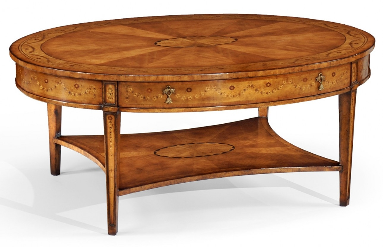 Coffee Tables High End Furniture Oval Coffee