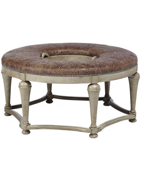 Luxury Leather & Upholstered Furniture Designer Ottoman Table