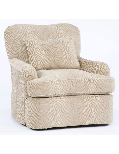 Luxury Leather & Upholstered Furniture Comfy swivel chair. 92