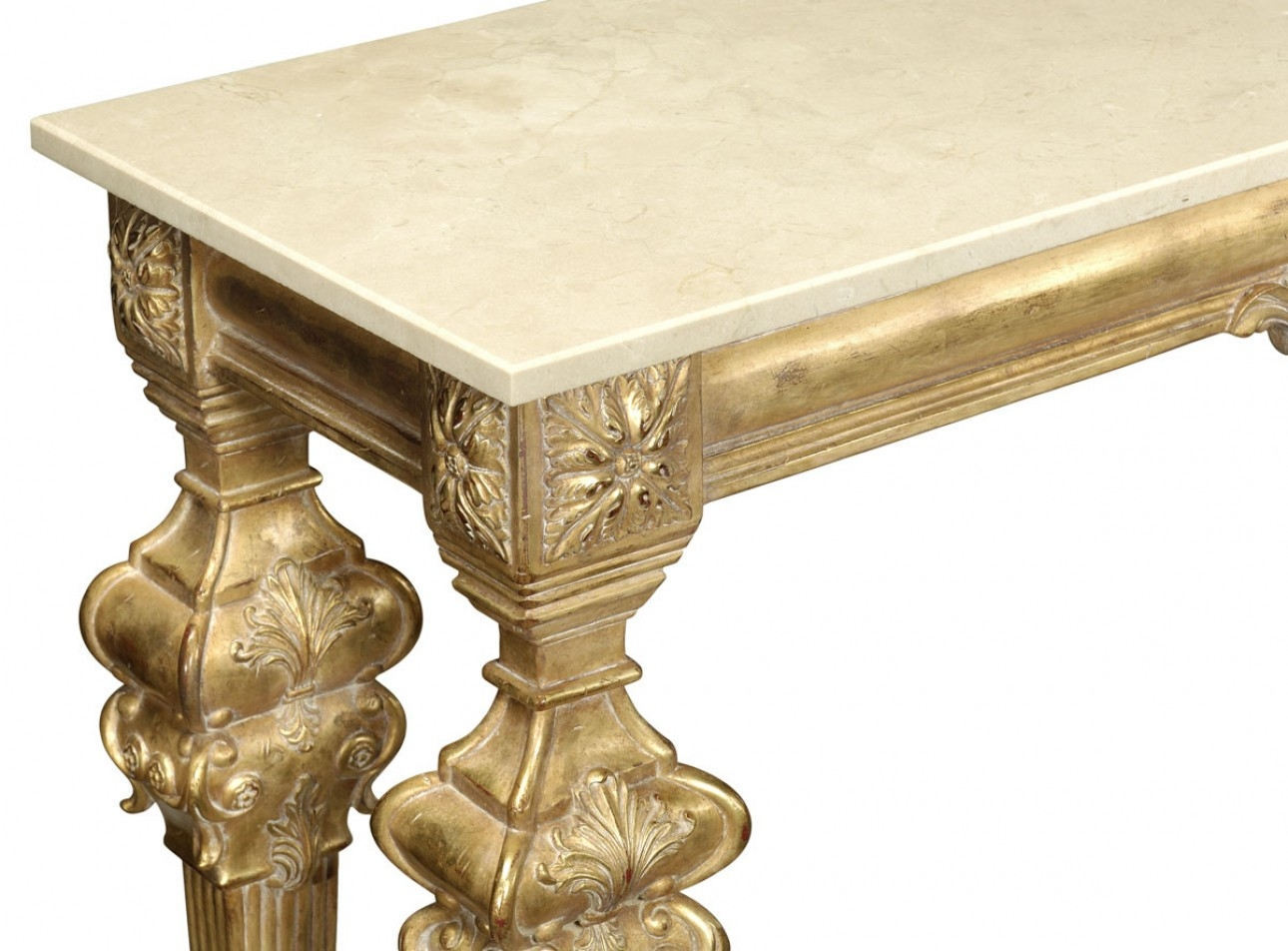console u0026 sofa tables gold antique finish marble top hand carved console table