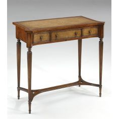 Console-table-leather-inlay