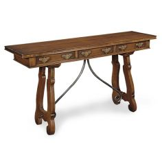 Console Table with Wrought Iron