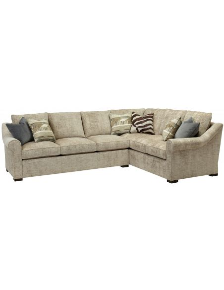 Luxury Leather & Upholstered Furniture Contemporary style sectional. High end furnishings. 6556