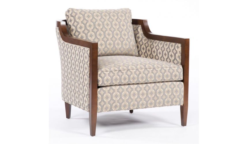 Luxury Leather & Upholstered Furniture Contemporary styled living room chair. 83