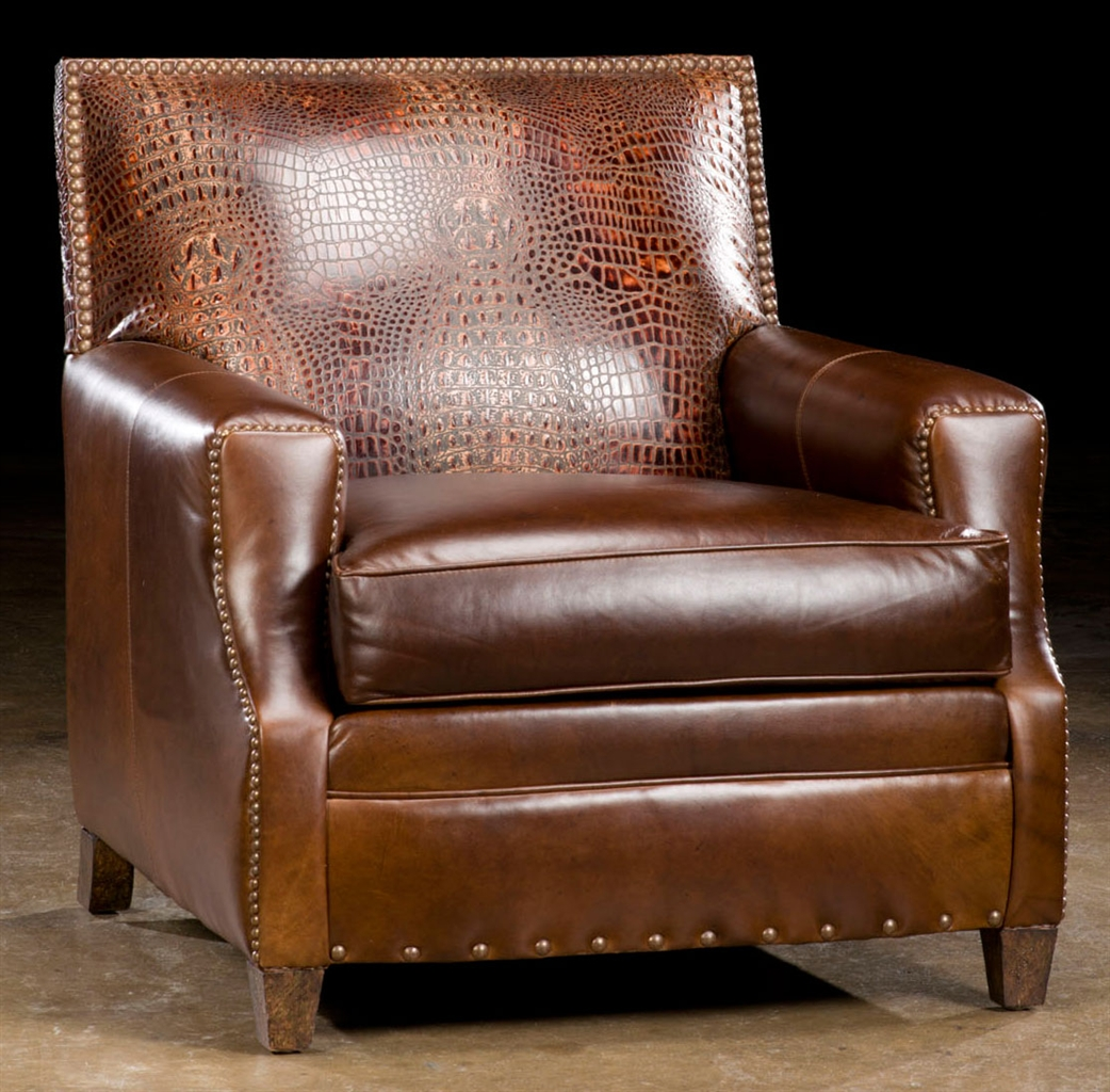 Luxury Leather & Upholstered Furniture Cool leather accent chair.