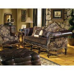 cool western style furniture custom sofa chair ottoman