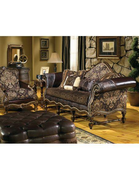 SOFA, COUCH & LOVESEAT cool western style furniture custom sofa chair ottoman
