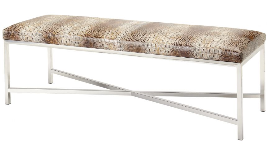 Luxury Leather & Upholstered Furniture Sturdy Bench