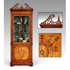 Corner china cabinet high end dining rooms, dining room sets