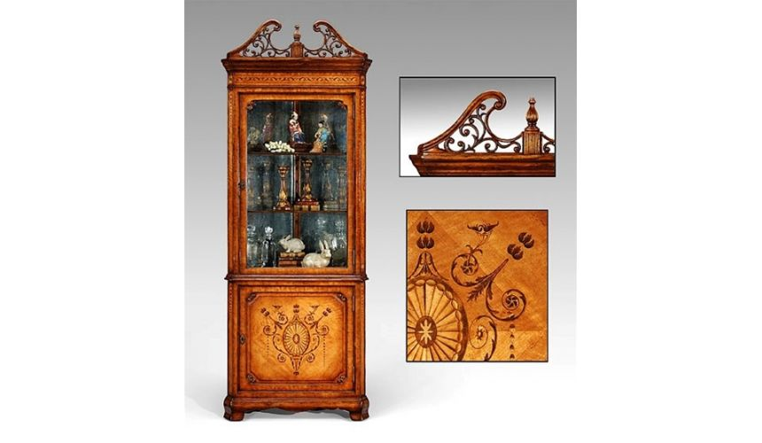 Breakfronts & China Cabinets Corner china cabinet high end dining rooms, dining room sets