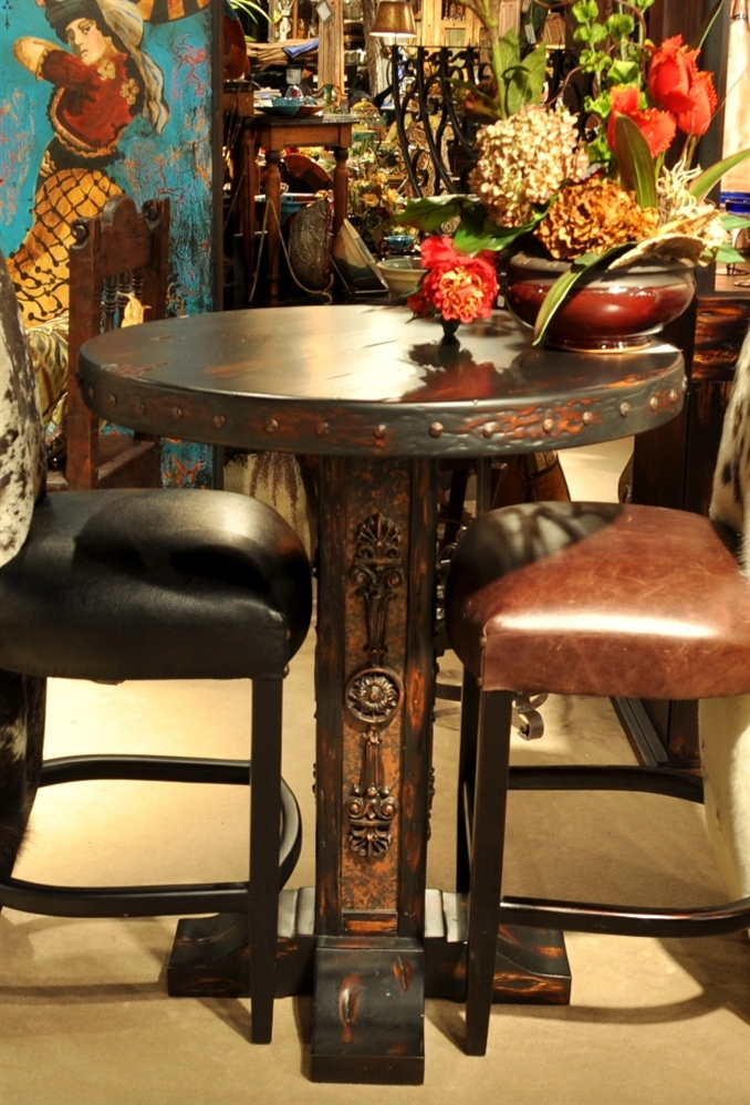 Corset bar stool, bistro chair, bistro table
