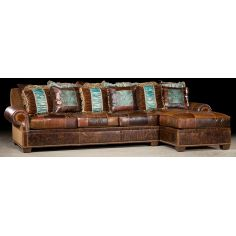 Couch with chaise lounge. High end furniture and furnishings. 46
