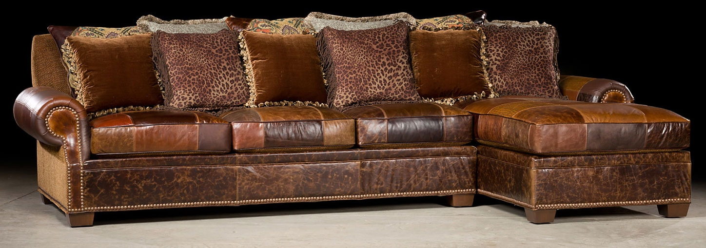 Chaise end sofa leather chaise end sofa memsaheb thesofa for Brown leather chaise end sofa