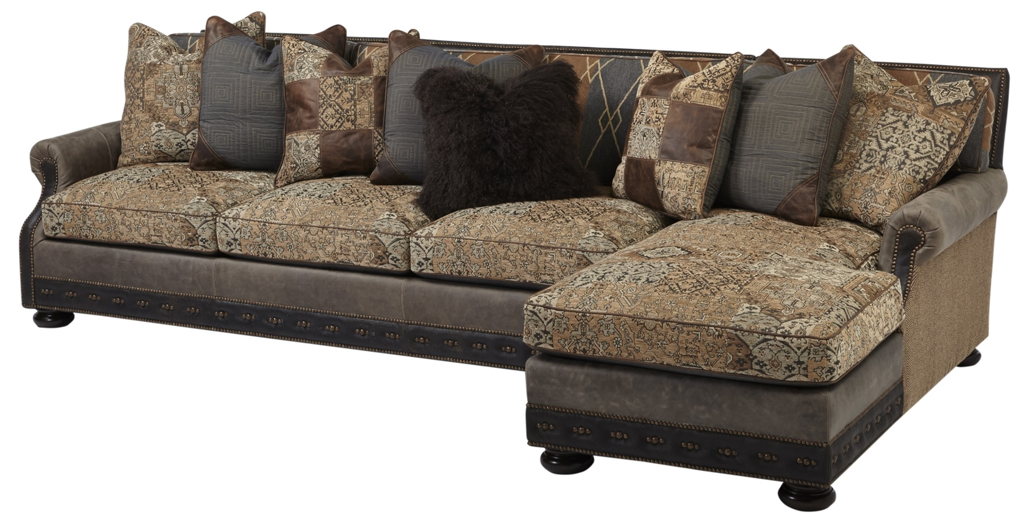 Cool Sofa With Chaise Lounge. High End Furnishings. 556
