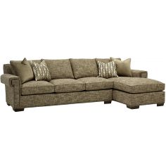 Cozy sofa with chaise lounge. High end furnishings. 7556