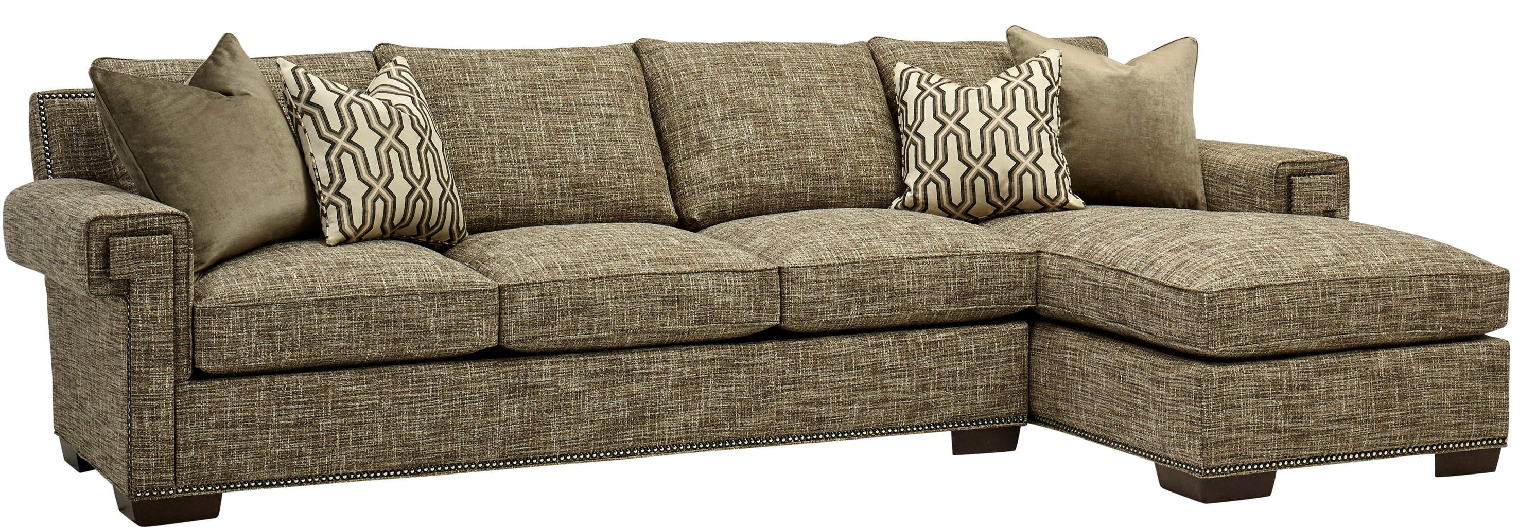 Cozy Sofa With Chaise Lounge High End Furnishings 7556