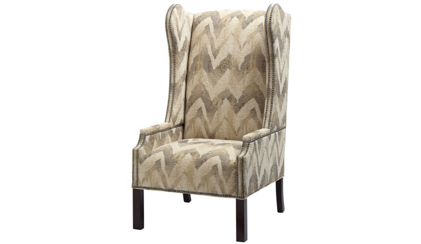 Luxury Leather & Upholstered Furniture Upholstered Wingback Arm Chair