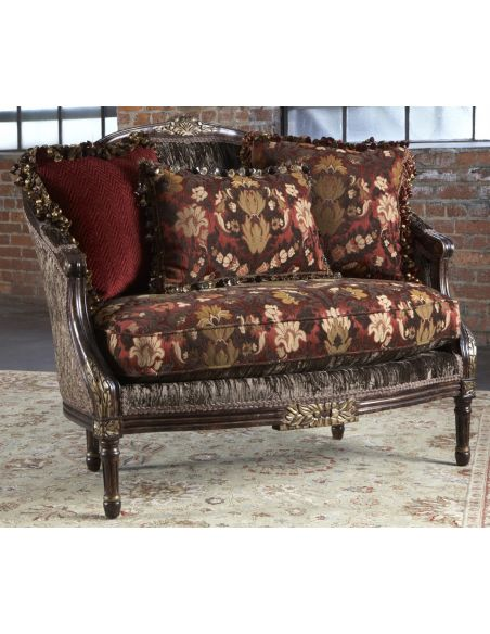 Crushed velvet settee, Luxury fine home furnishings.