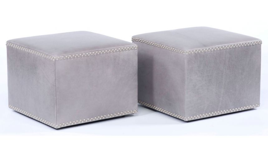 Luxury Leather & Upholstered Furniture Sleek high quality furniture and furnishings. Cube ottomans. 80
