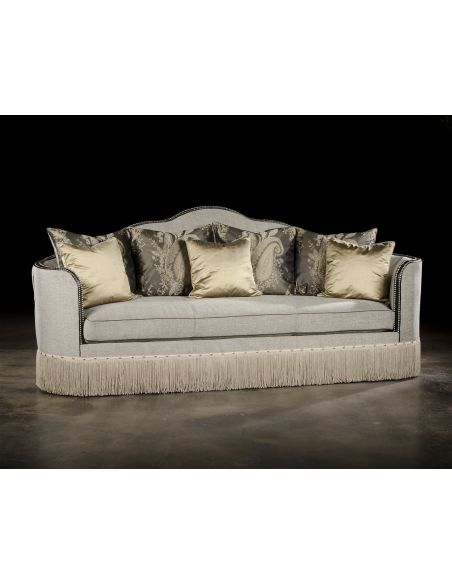 SOFA, COUCH & LOVESEAT High Style Luxury Upholstered Furniture, Curvy Sofa