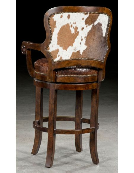 Luxury Leather & Upholstered Furniture Custom bar or counter stool 67