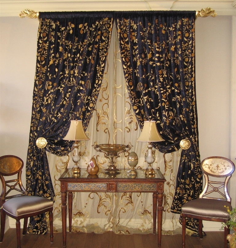 dining room furniture custom drapes window treatments bedding and blinds - Custom Window Treatments