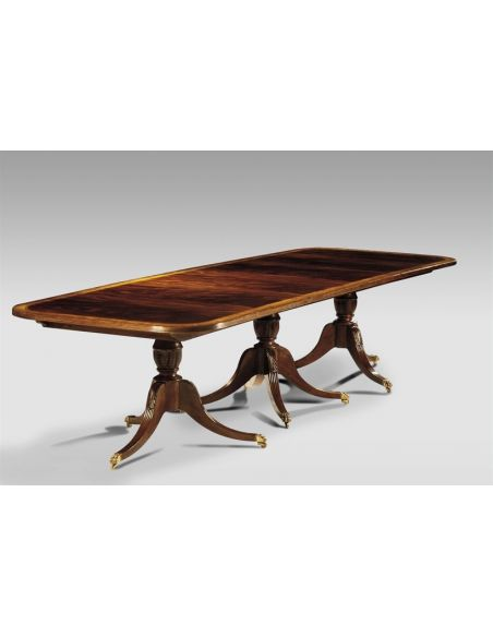 Dining Tables Luxury Home Furnishings. Triple Base Dining Table