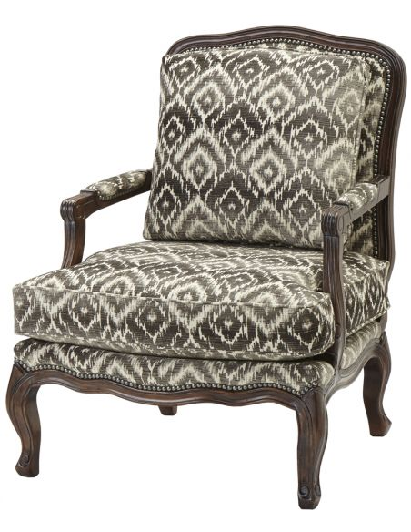 Luxury Leather & Upholstered Furniture Traditional Upholstered Arm Chair