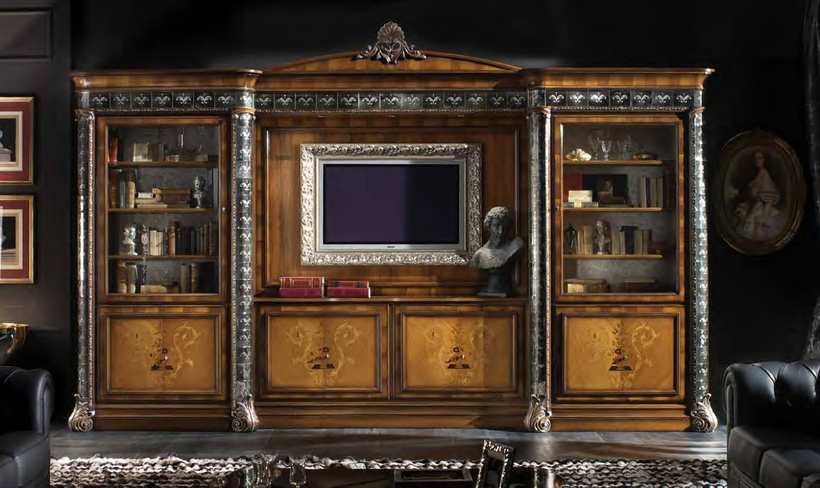 High end china display cabinet italian furniture for Italian furniture