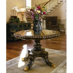 Display table. Round side table or center table.