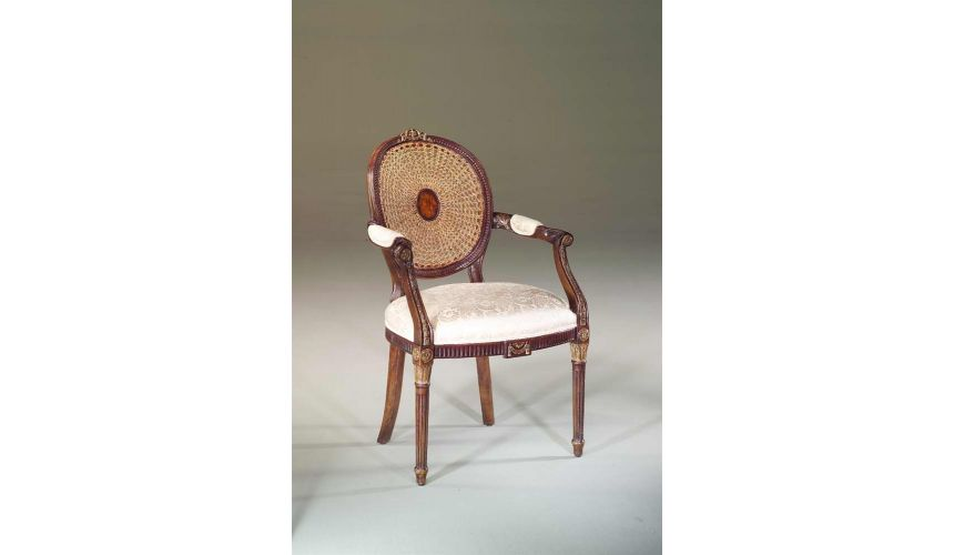 Dining Chairs High end dining room furniture Hand carved and gilt arm chair