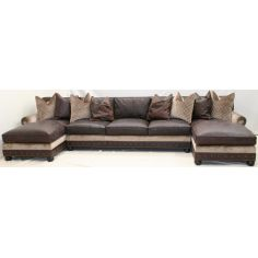 Classy large double chaise sectional sofa 985