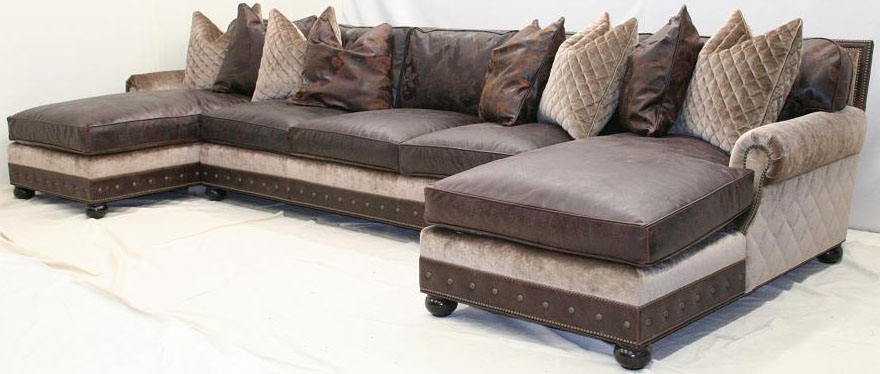 Large Double Chaise Sectional Sofa