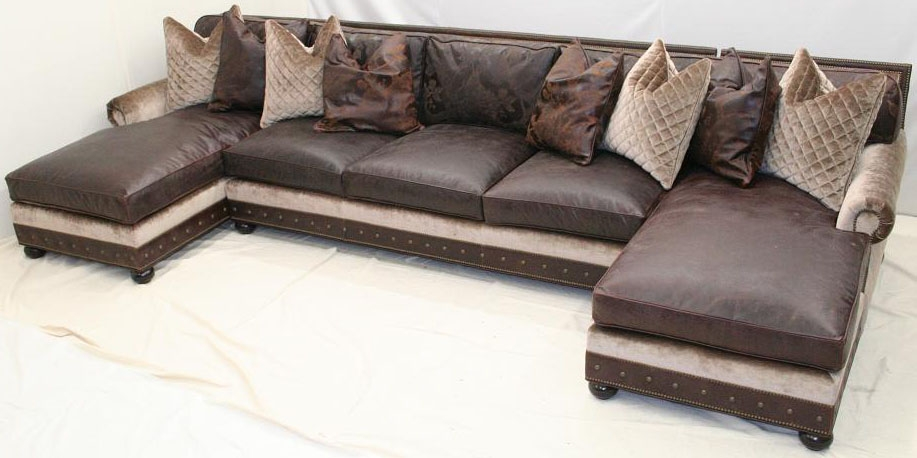 Classy large double chaise sectional sofa 985 : large chaise sectional - Sectionals, Sofas & Couches