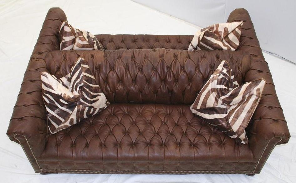 Double Sided Sofa sided tufted leather sofa, high end furniture