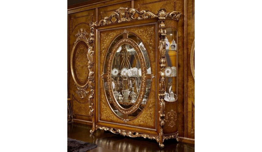 Breakfronts & China Cabinets Elegant Glass Cabinet