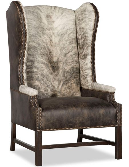 Luxury Leather & Upholstered Furniture Wingback Accent Chair