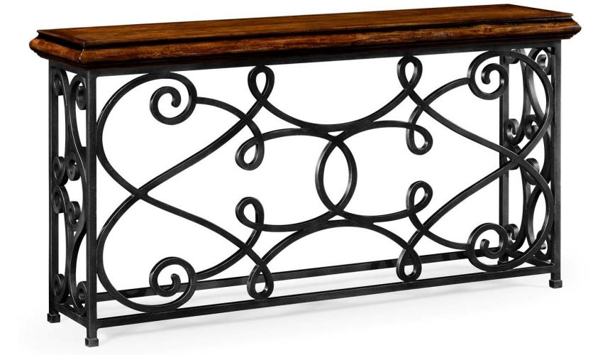 Console & Sofa Tables Simple Rectangular Console Table with Iron Base